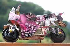 🏍️ Café Racer RECYCLING toy motorbike Motorrad Lithoblech Metall Handarbeit