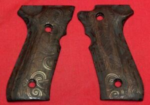 Beretta 92F Carved Wood Grips