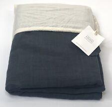 Restoration Hardware Garment-Dyed Linen Flat Sheet Queen Charcoal NEW $119