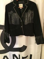Cripple Creek Suede Jacket with Leather Fringe Size L/NWOT