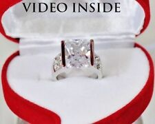 Solitaire Wedding White Gold Excellent Fine Diamond Rings