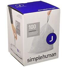 simplehuman Code J Custom Fit Liners, Tall Kitchen Drawstring Trash Bags, ..