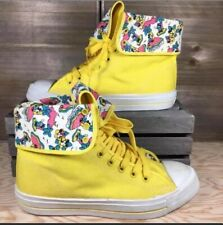 Disney Mickey Minnie Mouse Size 10 High Top Sneakers Women Vintage Shoes