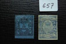 Oldenburg 1852/59 Mi 2 und 12 gestempelt !