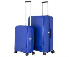 Samsonite Hardcase Luggage Optic Spinner 2 Piece 4W Set Royal Blue Colour