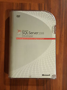 Microsoft SQL Server 2008 Developer RETAIL Box