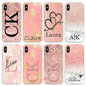 For iPhone 8/7/6/Plus/5s/XS/Max/XR/11/Case Personalised initials Name Phone zx17