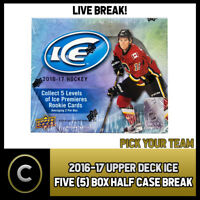 2016-17 UPPER DECK ICE - 5 BOX (HALF CASE) BREAK #H243 - PICK YOUR TEAM -