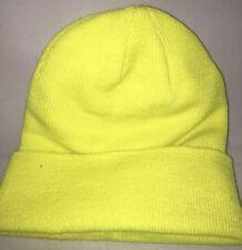 Otto Cap Neon Yellow Knit Hat Ski Cap Beanie Hat Skull