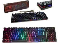 TASTIERA RETRO ILLUMINATA MULTICOLOR RGB PC COMPUTER GAMING LED KEYBOARD