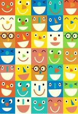 Happy Smiling Face Faces Blank Note Cards By Hallmark - Set of 5