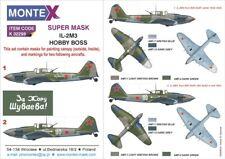 Montex Super Mask 1:32 IL-2 M-3 for Hobby Boss Kit #4 Spraying Stencil #K32298