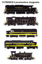 Frisco 1960s Locomotives 5 magnets Andy Fletcher