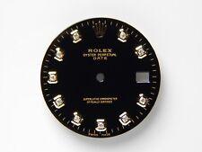 Rolex Men's Date Quickset 34mm 2Tone Black Color with Diamond Dials