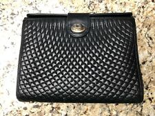 Bally Black Quilted Leather Chain Shoulder Italy Crossbody Evening Purse Bag GUC