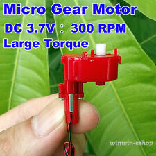 DC 3.7V 300RPM Large Torque Mini Worm Gear Reduction Motor Micro Coreless Motor