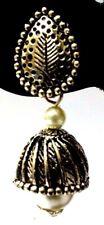 Imitation Jewelry Dangle Long Ea24 Silver Oxidized Earrings Jhumka Jhumki Ethnic