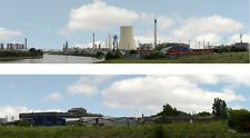 """Background Scenic Industrial 239A - 15 """"/38cm Std for HO and OO Scale"""