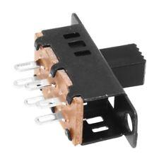 10Pcs High Knob 6 Pin 3 Position DPDT Panel Slide Switch 0.5A 50V DC L2A7