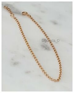 Anklet Mesh Jaseron Gold Plated 18 Carat 750/1000 Jewelry Women