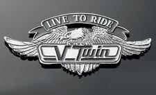 Emblème autocollant adésif métal Aigle VTwin Live to Ride GF moto custom trike