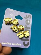 Three Pairs Of Claire's Monkey Pierced Earrings New Hear No Speak No See No Evil