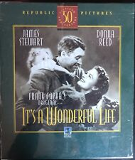 It's A Wonderful Life 50th Anniversary Deluxe Gift Set NEW Book; VHS + CD Sealed