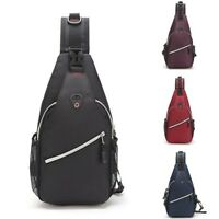 Unisex Chest Shoulder Sling Bag Cross Body Daily Cycle Travel Backpack Satchel