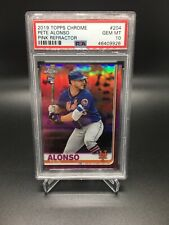 2019 Topps Chrome Pink Refractor Pete Alonso Mets RC Rookie PSA 10 GEM MINT