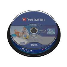 10 BD-R HTL Blu Ray 25 GB Verbatim 6x Printables Imprimibles BluRay Virgenes 50