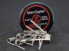 10 résistances, coil, Ni80 Alien Clapton 0.25 ohm