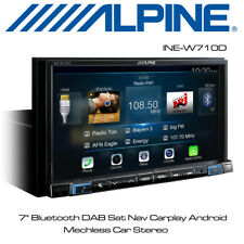 "Alpine INE-W710D - 7"" Bluetooth DAB Sat Nav Carplay Android Mechless Car Stereo"