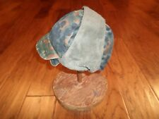 GERMAN MILITARY FLECTARN CAMO WINTER CAP WITH EAR FLAPS COLD WEATHER HAT