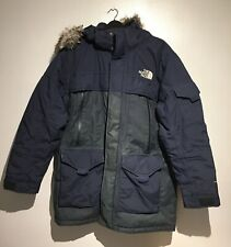 Men's The North Face Mcmurdo 2 Down Parka Jacket Navy Blue Large L RRP£400