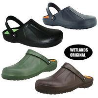 Mens WETLANDS Clogs Slip On Gardening Beach Holiday Sandals Mules 7 8 9 10 11 12