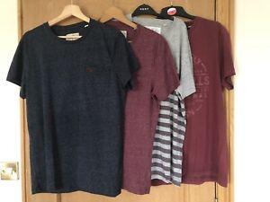 Bundle Of 4 Jack Wills Mens T-shirts- Size Medium