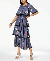 Avec Les Filles Women's Floral Tiered Midi Dress | SIZE 10 ***SEE DESCRIPTION**