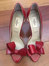 Valentino Bow D'orsay Pumps 39.5 (US 9) Red