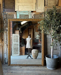 Beautiful, Huge, French Antique Leaner Mirror