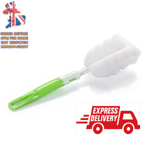 Sponge Brash With Handle Bottle Cup Cleaning  Scrubbing Brush Kitchen Cleaning