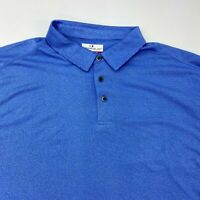 Grand Slam Performance Golf Polo Shirt Men's 2XL XXL Long Sleeve Blue Polyester