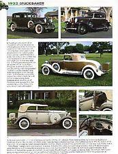 1932 Studebaker Article - President Convertible Roadster, Series 91, St Regis