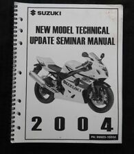 "2004 SUZUKI ""NEW MODEL"" GSX R 600 750 1000 MOTORCYCLE TECHNICAL UPDATE MANUAL"