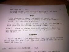 Justice League unfilmed screenplay (George Miller; Mulroneys)