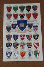 Vintage Postcard: Coats of Arms for The Colleges and University of Oxford