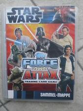 Star Wars Force Attax Sammelalbum Mappe Album Serie 3 blauem Kartenrücken