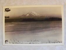 1944 RPPC MT. RAINIER FROM LAKE WASHINGTON AT SEATTLE  B & W Real Photo Postcard