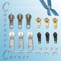 22PC remplacement zipper kit réparation fermeture éclair arrêts curseurs spirales réparer votre propre neuf