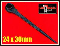 RATCHET PODGER SPANNER-STEEL-ERECTING-SCAFFFOLD-24X30mm