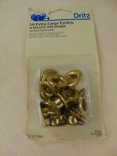 """Dritz Eyelets EXTRA LARGE BRASS - 10 Eyelets #661 SEALED Size 7/16"""""""